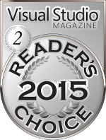 Visual Studio Magazine reader's choice Silver medal winner