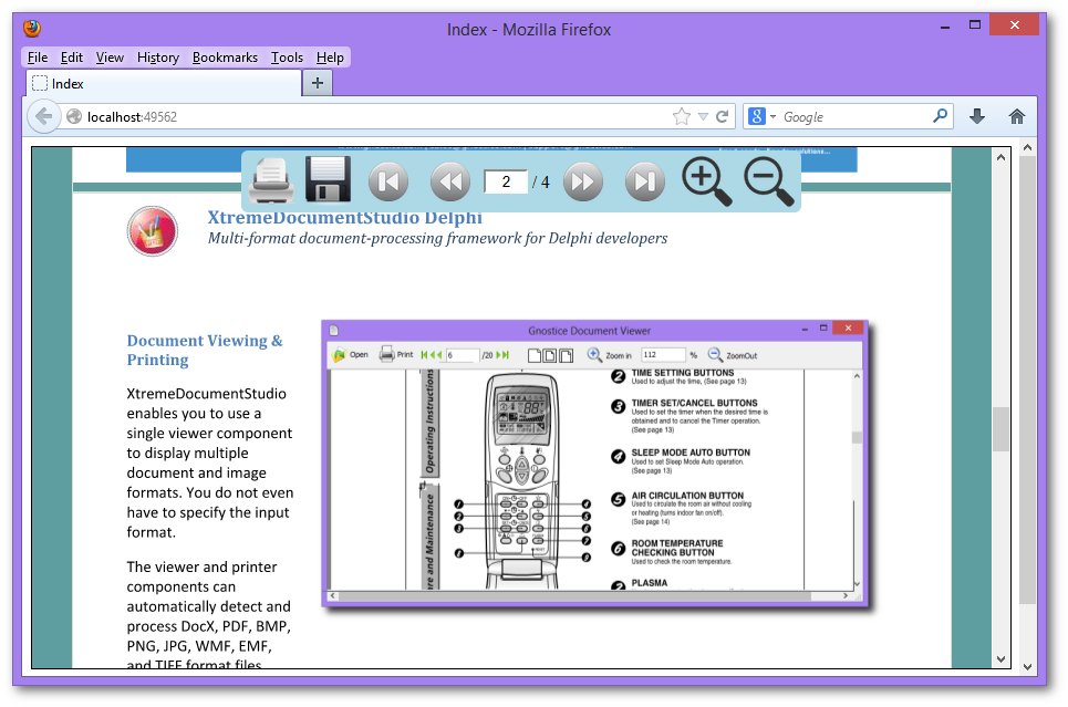 An Ajax Powered Multi Format Document Viewer Component For Your ASPNET MVC Web Applications It Supports Both Razor And ASPX View Engines