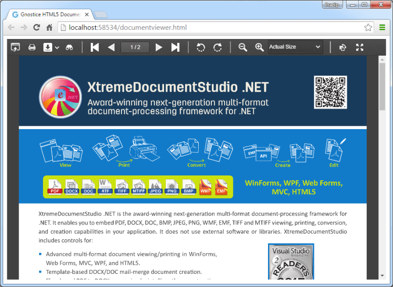 Craft Rich Document Enabled HTML5 Apps Using Document Studio