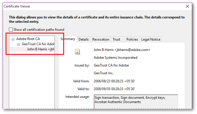 """What does the """"Signature validity is UNKNOWN"""" message from"""