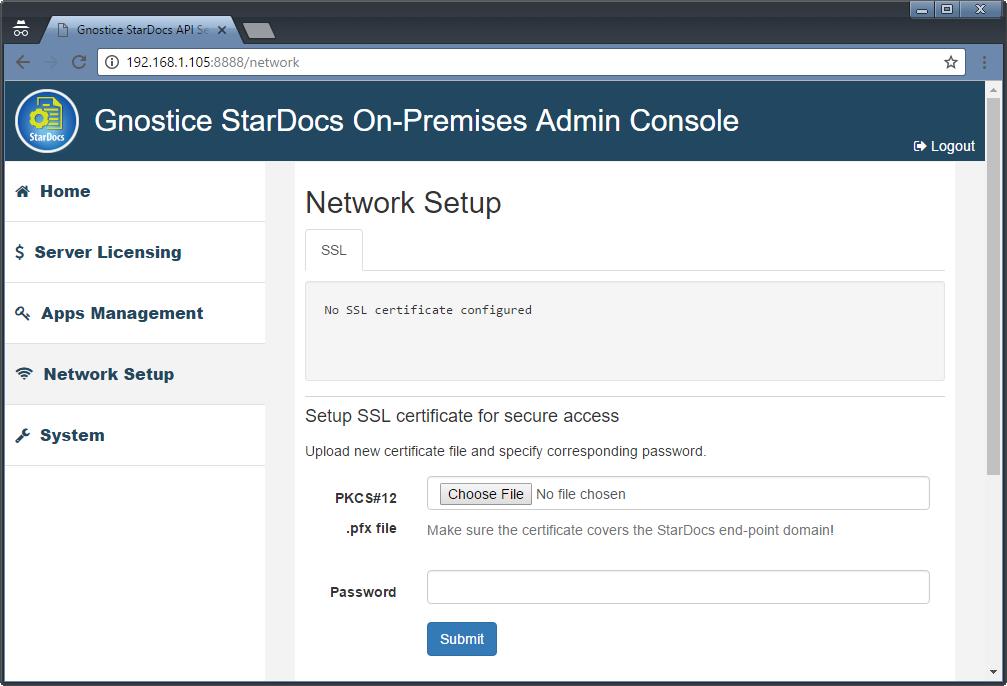 Configuring The Stardocs On Premises Api Server