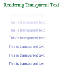 Translucent text in PDF