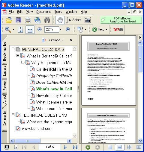 create edit delete and enhance pdf bookmarks in net With pdf document bookmark