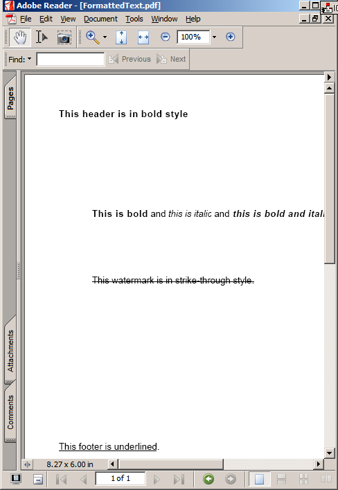 How To Render HTML-Formatted Text In PDF
