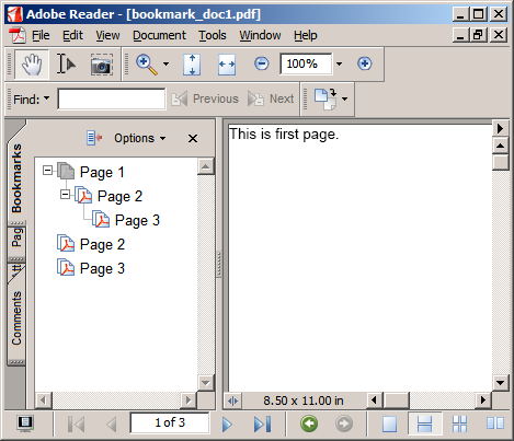 How To Create And Edit PDF Bookmarks In Java
