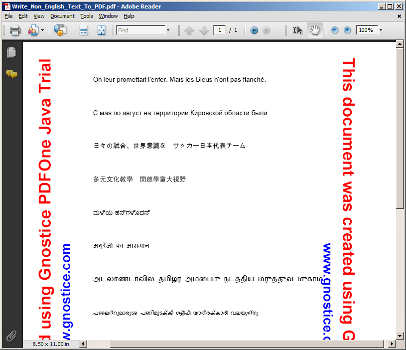 How To Write Non-English Text To PDF Using Java