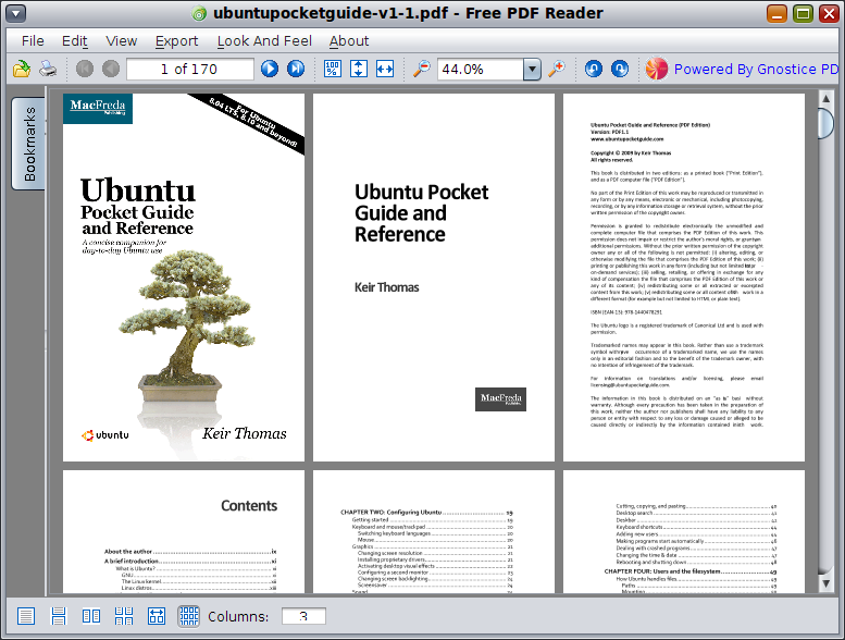 Click to view Free PDF Reader 1.4 screenshot