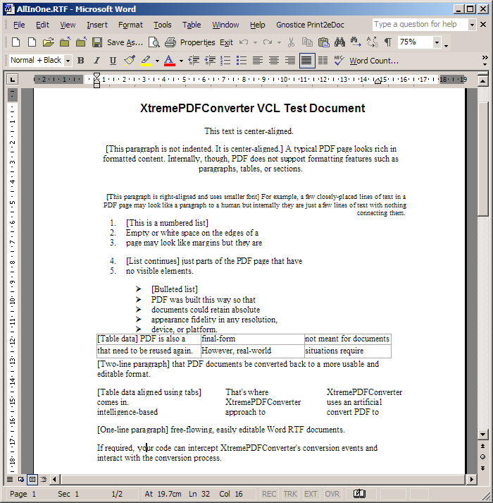 How To Perform PDF To Word Conversions In Delphi