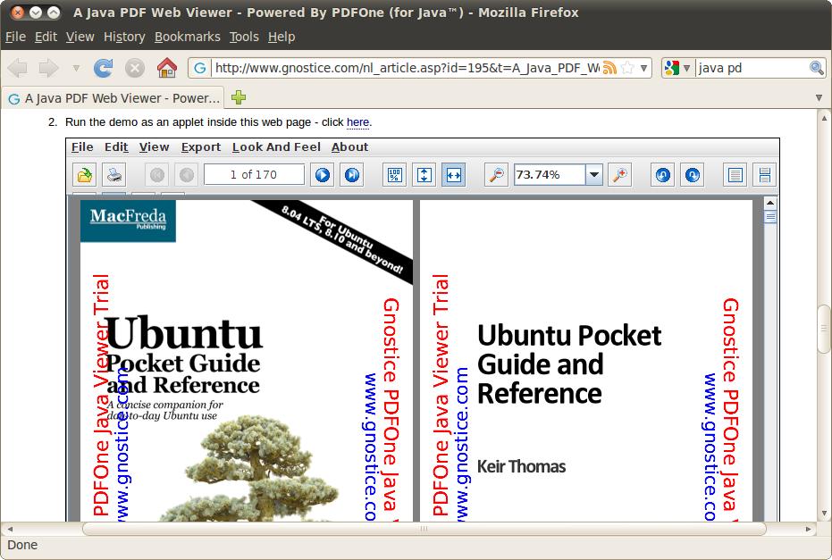 Web pdf viewer