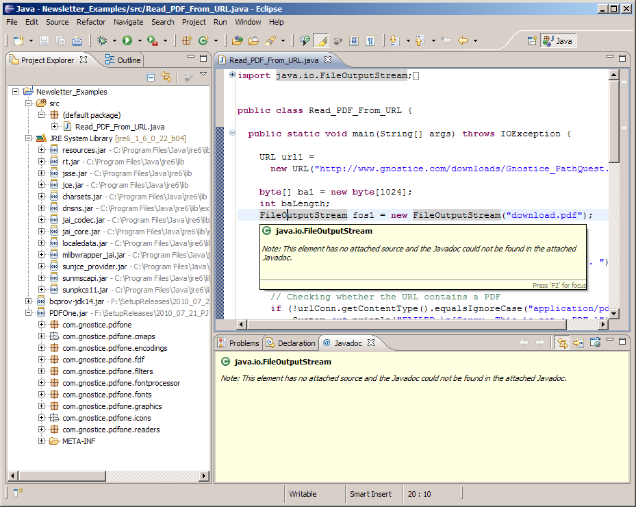 Force Eclipse To Use Local Javadocs For Context-Sensitive Help