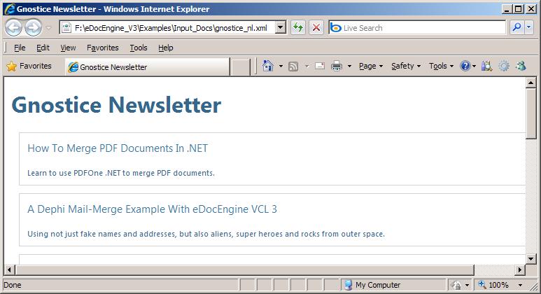 How To Convert XML To PDF Using Delphi