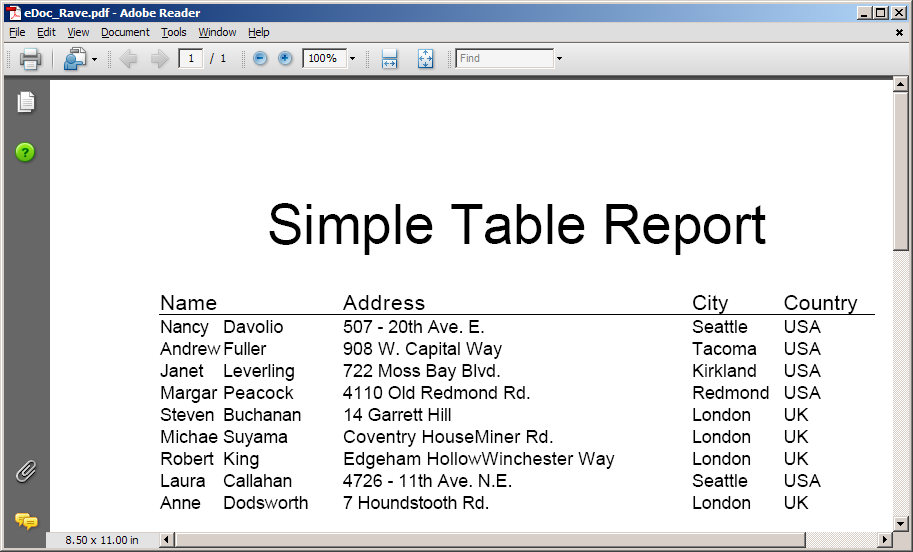 Export From Rave Reports To PDF And Other Formats