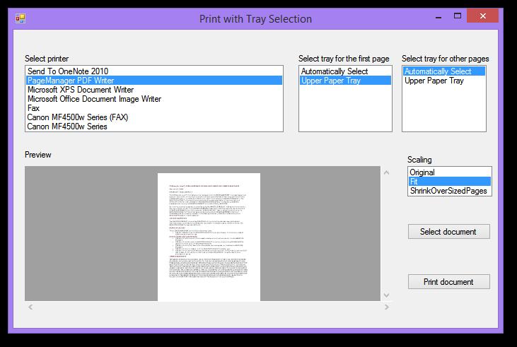 Printing PDF Files