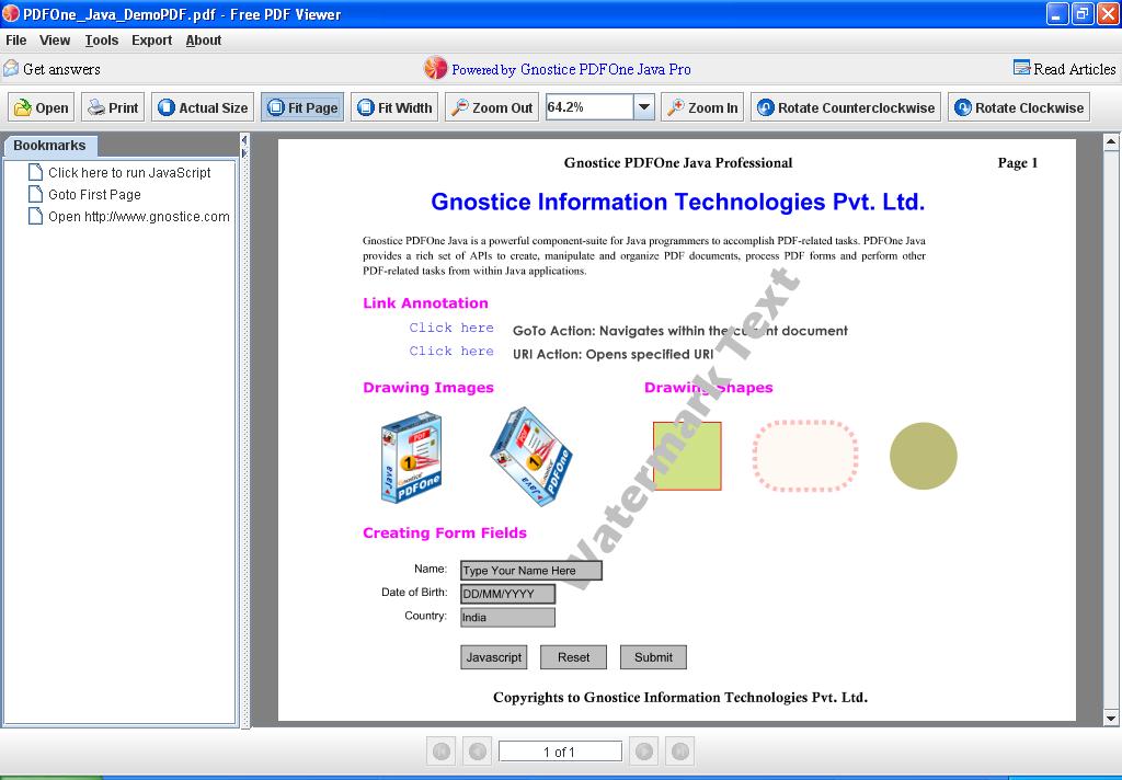 Free PDF Viewer 1.2
